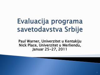 Evaluacija programa savetodavstva Srbije