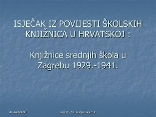 Naslovnica školskog izvješća s izgledom i nazivom Treće muške realne gimnazije u Zagrebu.