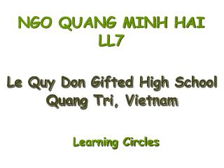 NGO QUANG MINH HAI LL7