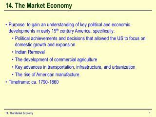 14. The Market Economy