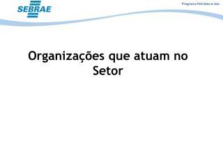 Organizações que atuam no Setor