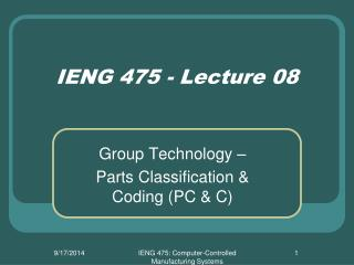 IENG 475 - Lecture 08