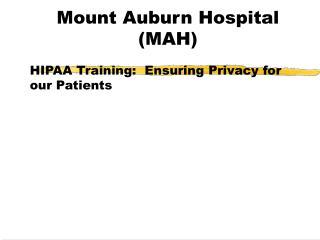 Mount Auburn Hospital (MAH)