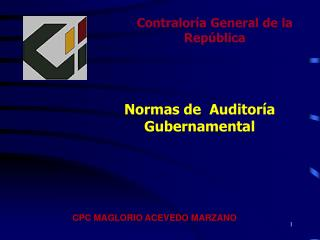 Contralor a General de la Rep blica