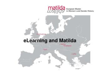 eLearning and Matilda