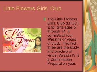 Little Flowers Girls' Club