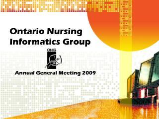 Ontario Nursing Informatics Group