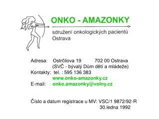 Adresa:    Ostrčilova 19          702 00 Ostrava                 (SVČ - bývalý Dům dětí a mládeže)