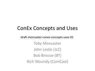 ConEx Concepts and Uses