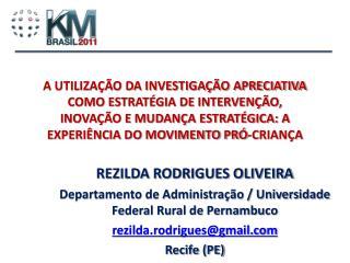 REZILDA RODRIGUES OLIVEIRA