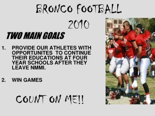 BRONCO FOOTBALL 2010