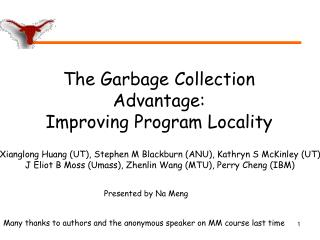 The Garbage Collection Advantage: Improving Program Locality