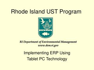 Rhode Island UST Program