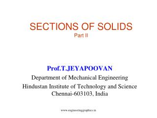 SECTIONS OF SOLIDS Part II