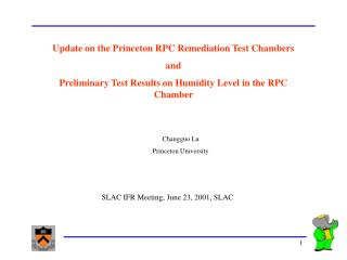 Update on the Princeton RPC Remediation Test Chambers and
