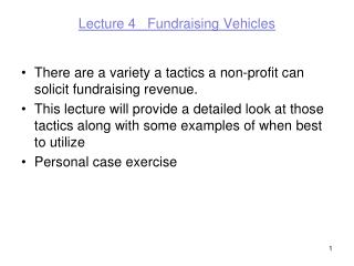 Lecture 4   Fundraising Vehicles