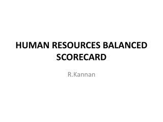 HUMAN RESOURCES BALANCED SCORECARD