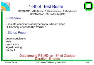 1-Shot  Test Beam