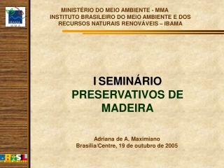MINIST RIO DO MEIO AMBIENTE - MMA INSTITUTO BRASILEIRO DO MEIO AMBIENTE E DOS RECURSOS NATURAIS RENOV VEIS   IBAMA