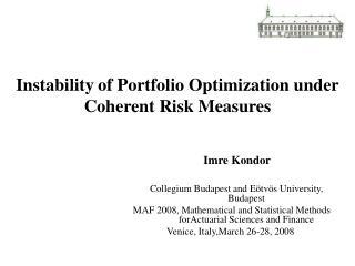 Instability of Portfolio Optimization under Coherent Risk Measures