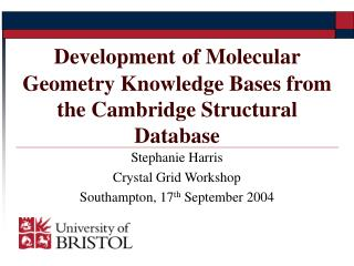 Stephanie Harris Crystal Grid Workshop Southampton, 17 th  September 2004