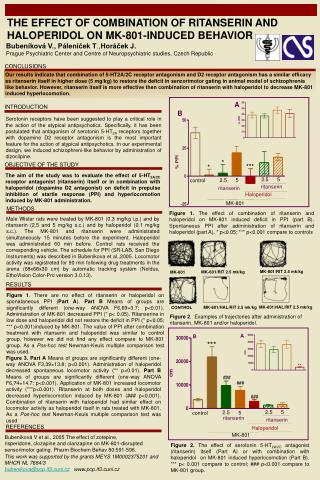 THE EFFECT OF  COMBINATION OF RITANSERIN AND HALOPERIDOL ON MK-801-INDUCED BEHAVIOR