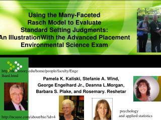 Pamela K. Kaliski, Stefanie A. Wind, George Engelhard Jr., Deanna L.Morgan,