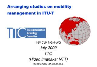 Arranging studies on mobility management in ITU-T