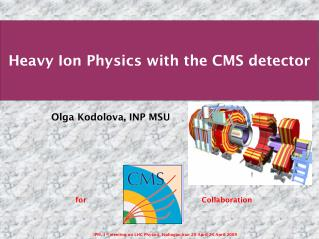 Heavy Ion Physics with the CMS detector