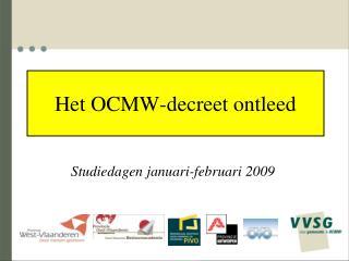 Het OCMW-decreet ontleed