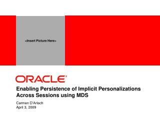 Enabling Persistence of Implicit Personalizations Across Sessions using MDS