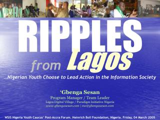 RIPPLES from Lagos