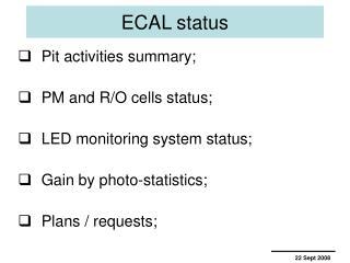 ECAL status
