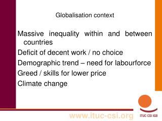 Globalisation context