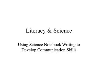 Literacy & Science