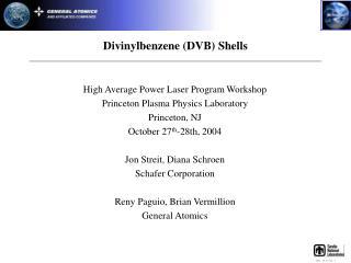 Divinylbenzene (DVB) Shells
