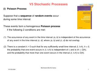 V5 Stochastic Processes