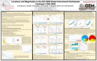 Locations and Magnitudes in the ISC-GEM Global Instrumental Earthquake Catalogue (1900-2009)