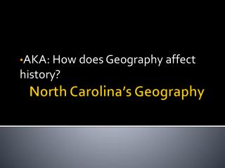 North Carolina's Geography