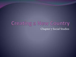 Creating a New Country