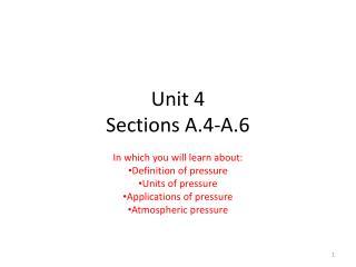 Unit 4 Sections A.4-A.6