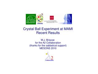 Crystal Ball Experiment at MAMI Recent Results W.J. Briscoe  for the A2 Collaboration