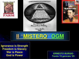 """Il  """" MISTERO """"  OGM"""