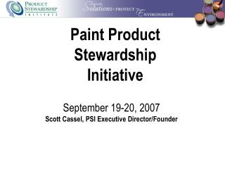 Paint Product  Stewardship Initiative
