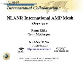 NLANR International AMP Mesh Overview