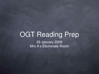 OGT Reading Prep