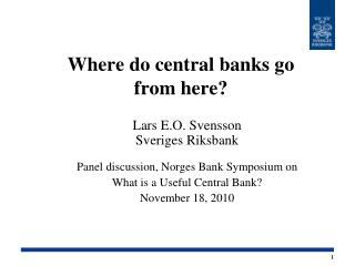 Where do central banks go  from here?