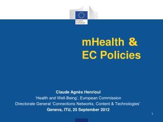 mHealth  &  EC Policies
