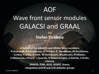 GRAAL- GALACSI Comparison