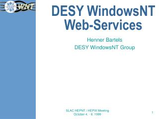 DESY WindowsNT Web-Services